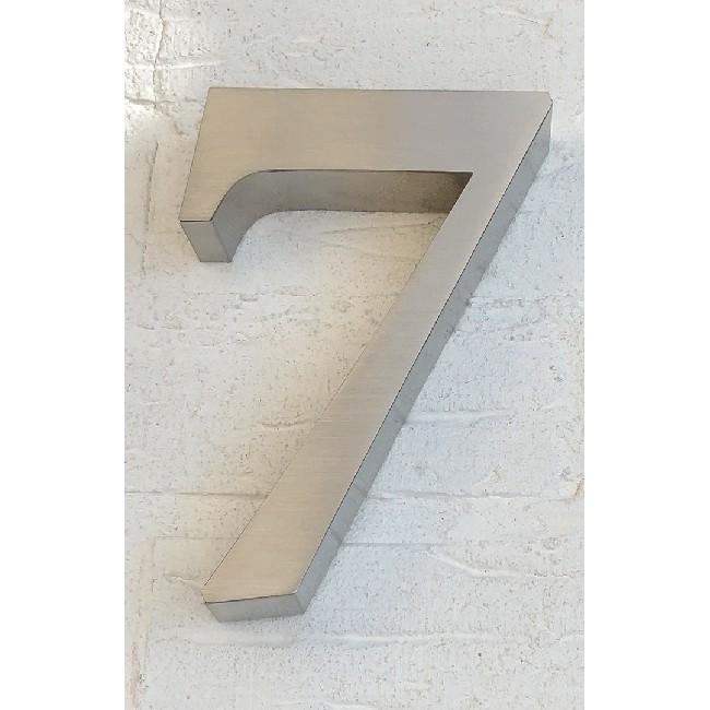 Huisnummer 7 RVS 3D Roma