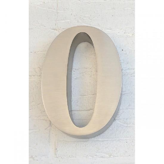 Huisnummer 0 RVS 3D Roma